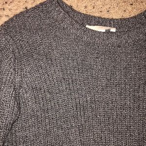 Grey knit cropped H&M sweater
